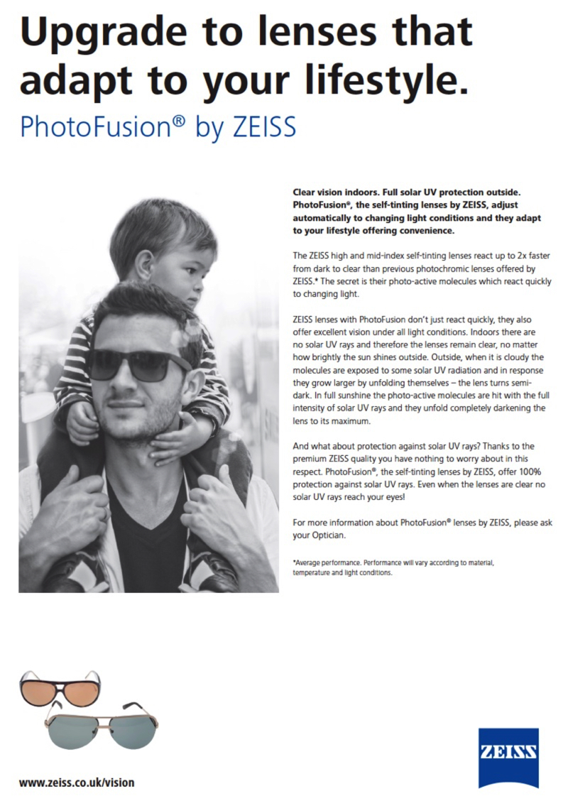 241a07fa478 Our ZEISS free PhotoFusion upgrade offer is back